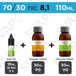 PURE - BASE 110 ML 70/30 - NICOTINA 8.1