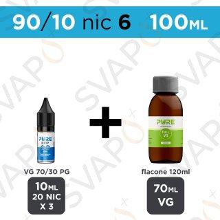PURE - BASE 100 ML 90/10 - NICOTINA 6