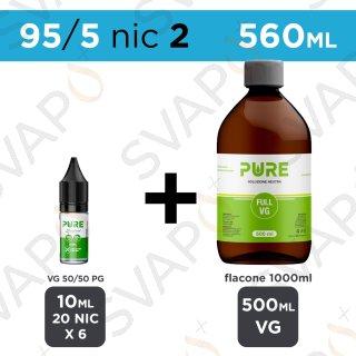 PURE - BASE 560 ML 95/5 - NICOTINA 2